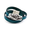 Hand and Paw-Leather Wrap Bracelet