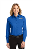 District 5520 Womens Long Sleeve Oxford (L608)