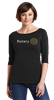 District Womens Rhinestone 3/4 Sleeve Tee