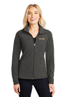 Port Authority Womens Heather Microfleece Full-Zip Jacket