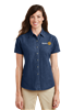 Port & Company Womens Short Sleeve Denim Shirt