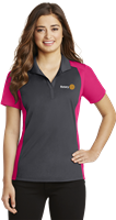 Sport-Tek Womens Colorblock Micropique Polo