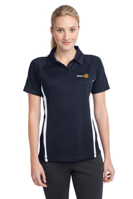 Sport-Tek Womens Micro Mesh Colorblock Polo