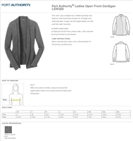 Port Authority Open Front Cardigan Sweater