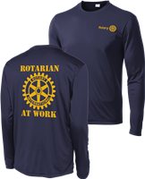 Rotarian at Work Long Sleeve Performance Tee