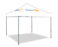 Rotary Logo WHITE Pop Up Tent