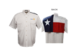 Tiger Hill Texas Flag Short Sleeve Fishing Shirt