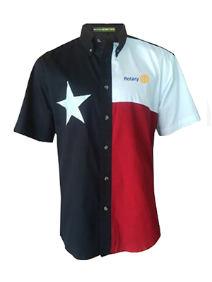 Tiger Hill Texas Flag Short Sleeve Twill Shirt