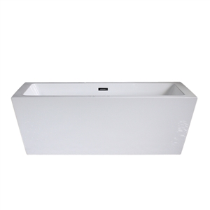 SanSiro 'Asti59CAJC' 59 x 34 inch Acrylic Freestanding Bathtub with Hot Air Jetting and Chromotherapy