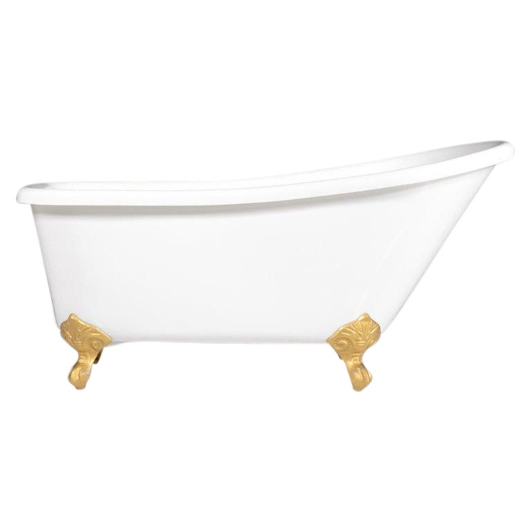 Luchino59 59 Coreacryl White Acrylic Extra Wide Single Slipper Clawfoot Tub Package Choose Your Own Ings Style And Color Finish At No