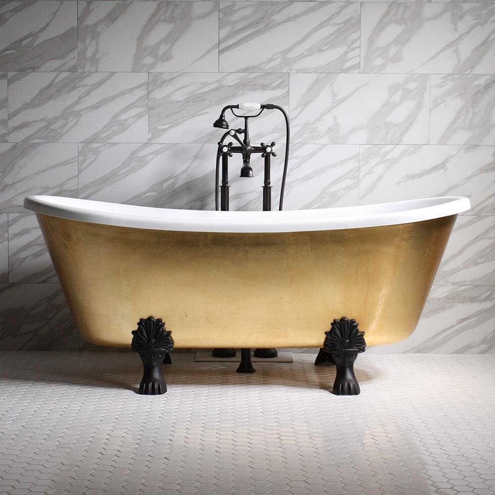 Ramesses67 67 Coreacryl White Acrylic French Bateau Clawfoot Tub