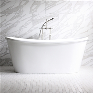 "'Verona59'  59"" WHITE CoreAcryl Skirted Tub"