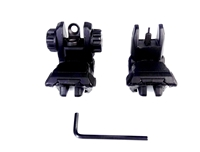 AR-15 Front and Rear Flip Sights Set