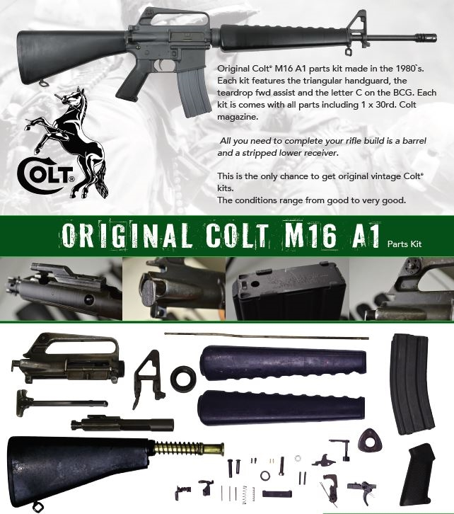 Original Colt M16A1 Parts Kit-A