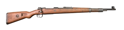 Original German WW2 K.98 Mauser Rifle with cracked Stock