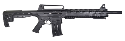 Pardus SD Semi-Auto Tactical 12GA Shotgun, 18.5""