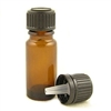 10ml Amber Glass Bottle with dripolator plug and cap