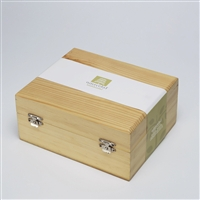 Hand-crafted empty wooden chest for 20 essential oils