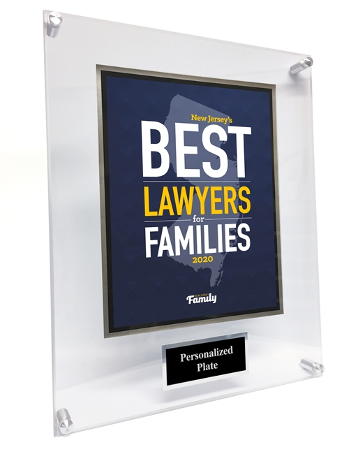 2020 New Jersey's Best Lawyers for Families Acrylic Plaque