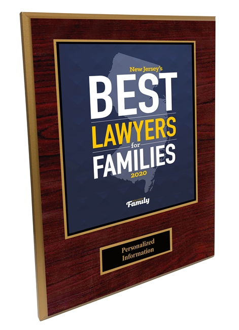 2020 Deluxe New Jersey's Best Lawyers for Families Plaque