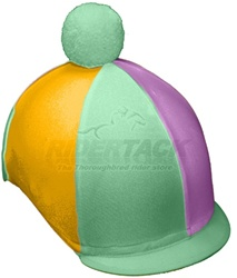 Multi-Color Helmet Covers in Lycra, Caliente Style by Equiwin