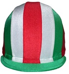 Front To Back Multi-Color Helmet Covers in Lycra, Caliente Style by Equiwin