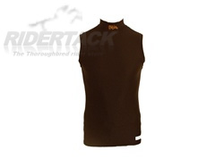 * FINAL SALE, NON RETURNABLE * Sleeveless Lycra Turtleneck Shirt by Equiwin, Private Brand