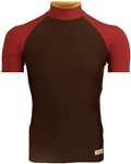 Bi-Color Short Sleeve Turtleneck in Lycra by Equiwin
