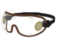 Clear Lens, Brass Vent Jockey Goggle by Kroop's