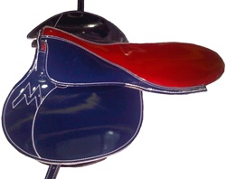 Large Horse Racing Saddle by Merlano, Made-to-Order