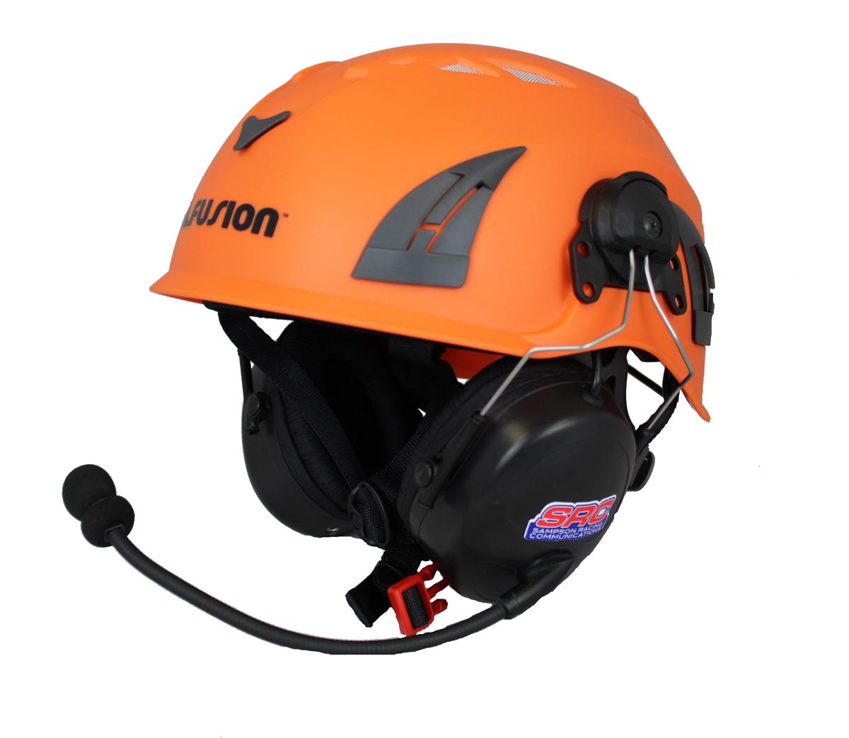 2-Way Radio Mounted Hard Hat [OPTIONAL: Wireless/Bluetooth Intercom]