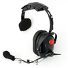 Over the Head Single Sided Headset for 2 Way Communications