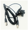 Crew Headset Coil Cord w/Inline PTT Universal
