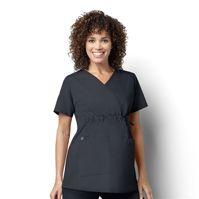 WonderWink WonderWORK Women's Maternity Mock Wrap Top