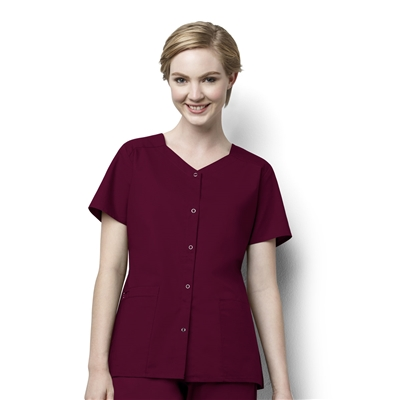 Women's Short Sleeve Snap Jacket by WonderWink