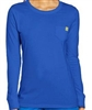 WonderWink Washed Cotton Long Sleeve Tee in Royal