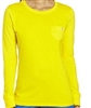 WonderWink Washed Cotton Long Sleeve Tee in Wink Yellow