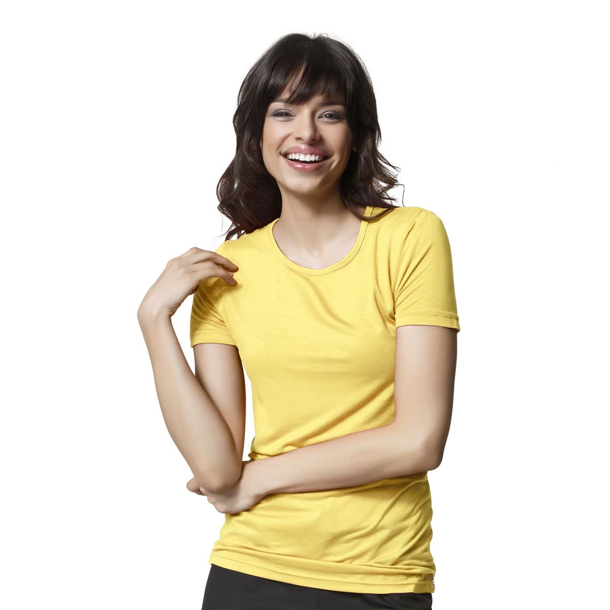 2604975b Keep Warm With The Slinky Knit Short Sleeve Tee Shirt - WonderWink ...