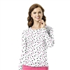 Long Sleeve Silky All-Over Print Tee in Dots in Style Tee