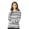 WonderWink Long Sleeve Multi Striped Tee