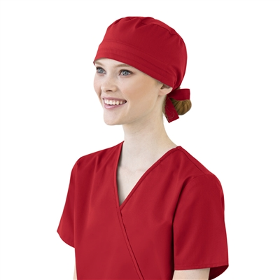 WonderWink WonderWORK Unisex Solid Scrub Cap in Red
