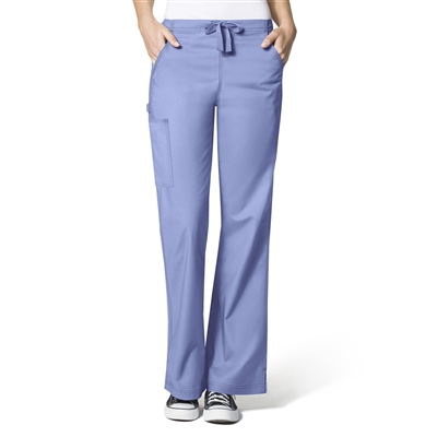 WonderFlex Grace Flare Leg Pant in Aqua by WonderWink