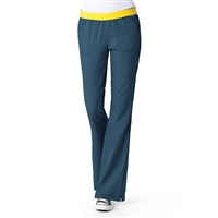 WonderWink Four-Stretch Flip Flare Leg Pant in Caribbean Blue