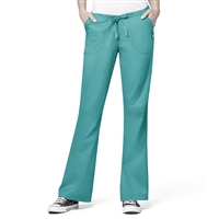 WonderWink Utility Girl Flare Multi-Pocket Pant in Emerald
