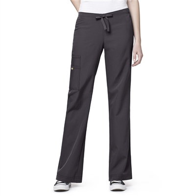 WonderWink Four-Stretch Cargo Drawstring Pant in Graphite