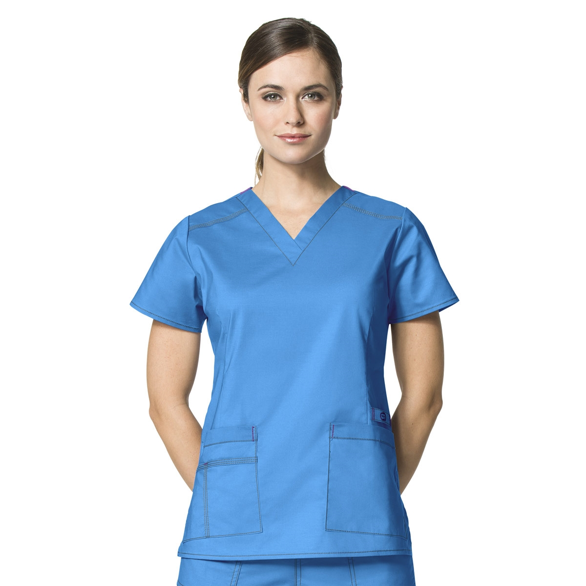 84d4e1501e4 WonderFLEX Verity V-Neck Top - WonderWink Scrubs