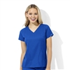 WonderWink WonderTECH Women's Tech V-Neck Top in Royal