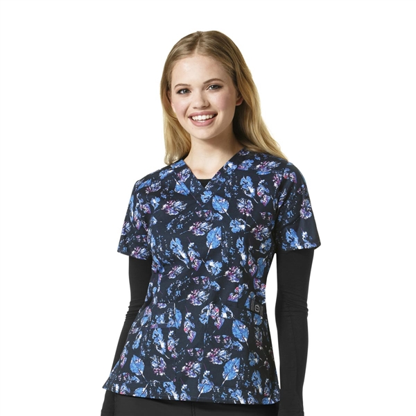 WonderWink WonderFLEX Verity Print Top in Dreaming in Blue