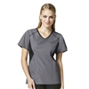 WonderWink Origins India Sporty Angled Side V-Neck Top