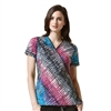WonderWink WonderFLEX Print Top in Dye-Agonal